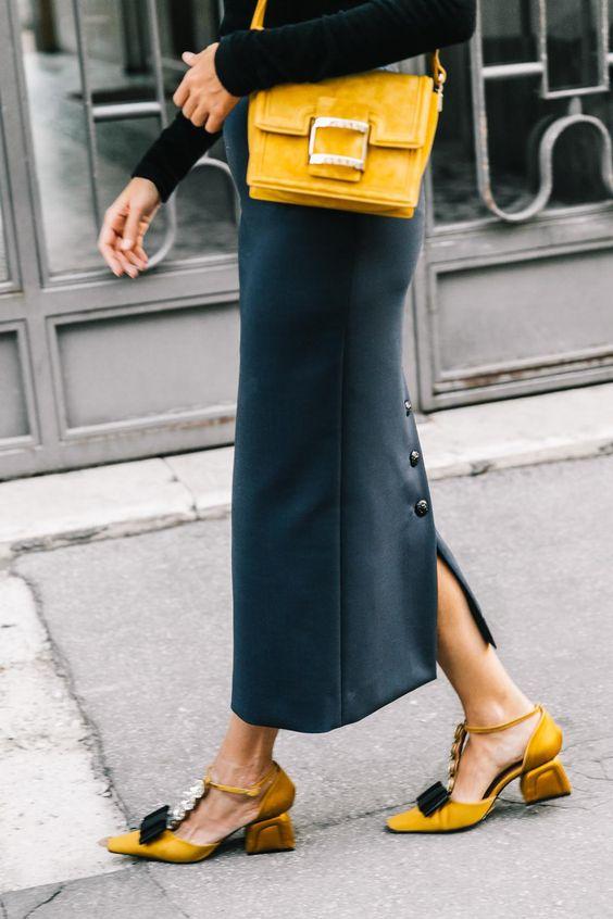 modna torebka żółta