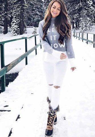 buty na zimę stylizacja